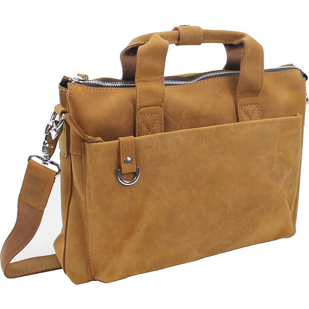 Vagabond Traveler 15.5  Leather Business Case Nature Brown - Vagabond Traveler Non-Wheeled Business Cases - Work Bags & Briefcases, Non-Wheeled Business Cases