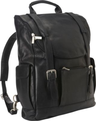 Black Leather Laptop Backpack zkbT95r0