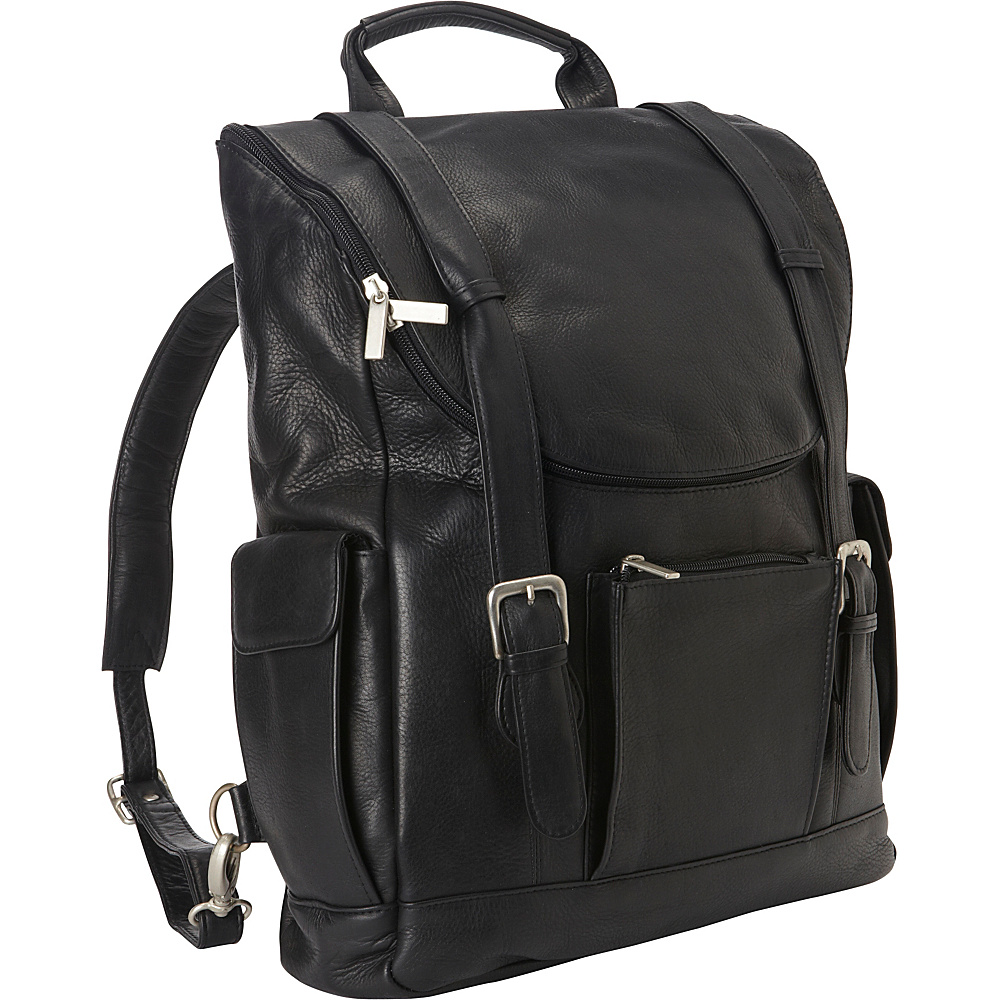 Le Donne Leather Classic Laptop Backpack Black - Le Donne Leather Business & Laptop Backpacks - Backpacks, Business & Laptop Backpacks