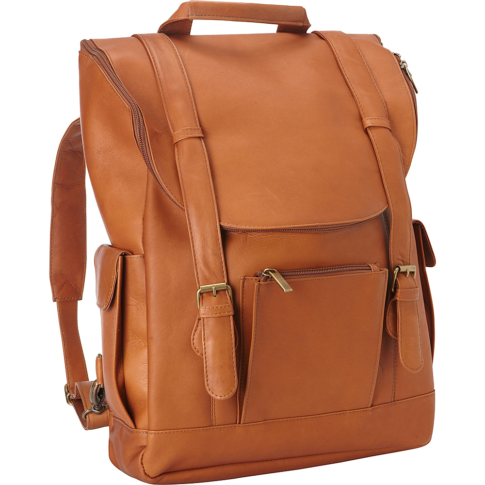 Le Donne Leather Classic Laptop Backpack Tan - Le Donne Leather Laptop Backpacks