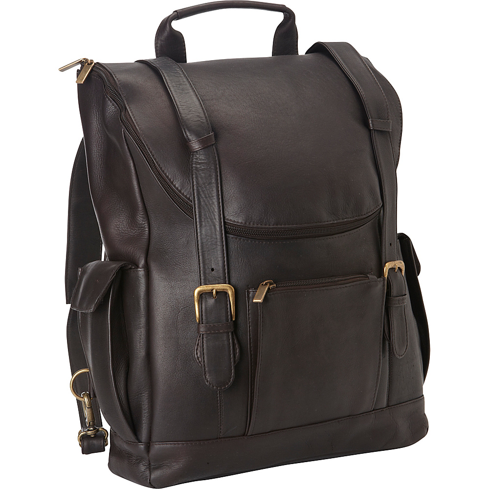 Le Donne Leather Classic Laptop Backpack Cafe - Le Donne Leather Business & Laptop Backpacks - Backpacks, Business & Laptop Backpacks