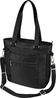 Travelon Anti-Theft Signature Tote Black - Travelon Fabric Handbags