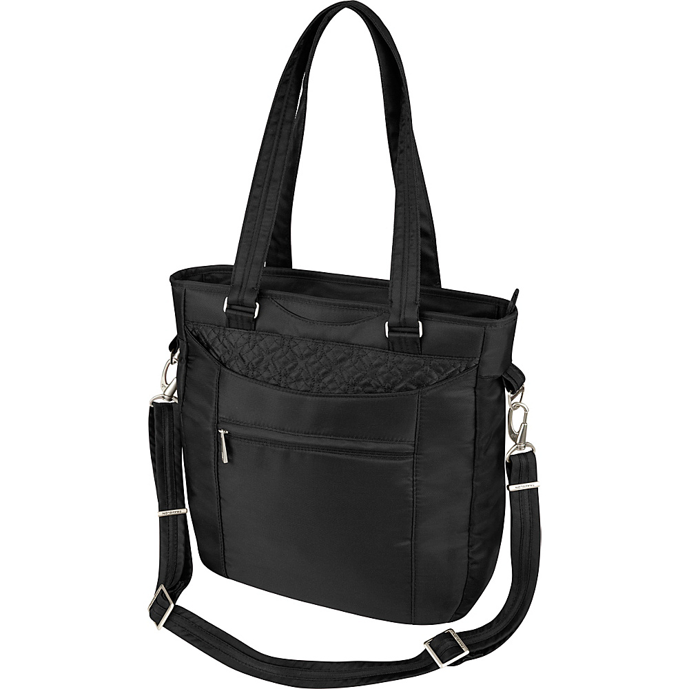 Travelon Anti-Theft Signature Tote Black - Travelon Fabric Handbags - Handbags, Fabric Handbags