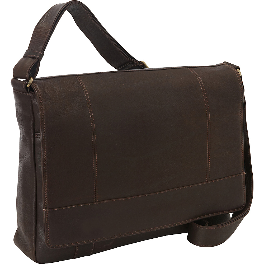 Derek Alexander EW 3/4 Flap Unisex Messenger Bag Brown - Derek Alexander Messenger Bags - Work Bags & Briefcases, Messenger Bags