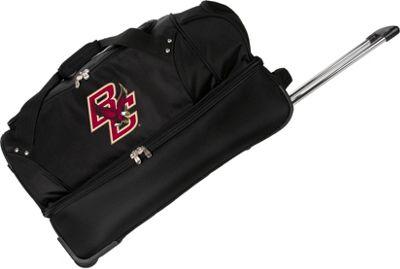 Denco Sports Luggage NCAA Boston College Eagles 27 inch Drop Bottom Wheeled Duffel Bag Black - Denco Sports Luggage Travel Duffels