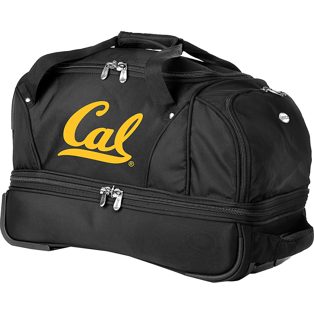 "Denco Sports Luggage NCAA University of California (Berkeley) Bears 22"" Drop Bottom Wheeled Duffel Bag Black - Denco Sports Luggage Travel Duffels"