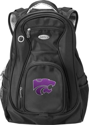 "Denco Sports Luggage NCAA Kansas State University Wildcats 19"""" Laptop Backpack Black - Denco Sports Luggage Laptop Backpacks"