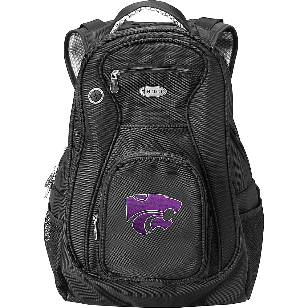Denco Sports Luggage NCAA Kansas State University Wildcats 19 Laptop Backpack Black - Denco Sports Luggage Laptop Backpacks - Backpacks, Laptop Backpacks