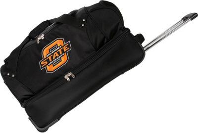 Denco Sports Luggage NCAA Oklahoma State University Cowboys 27 inch Drop Bottom Wheeled Duffel Bag Black - Denco Sports Luggage Travel Duffels