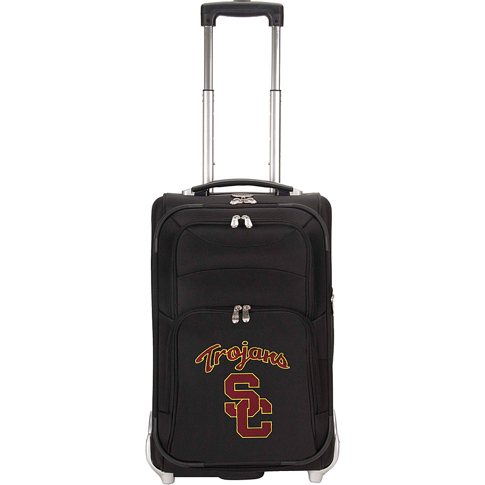 Denco Sports Luggage NCAA University of Southern California (USC) Trojans 21 Upright Exp Wheeled Carry-on Black - Denco Sports Luggage Small Rolling Luggage - Luggage, Small Rolling Luggage