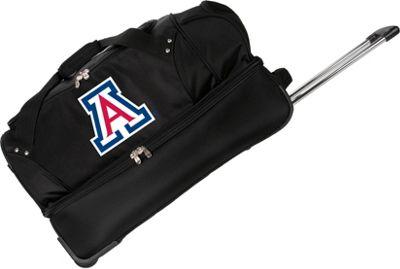"Denco Sports Luggage NCAA University of Arizona Wildcats 27"""" Drop Bottom Wheeled Duffel Bag Black - Denco Sports Luggage Travel Duffels"