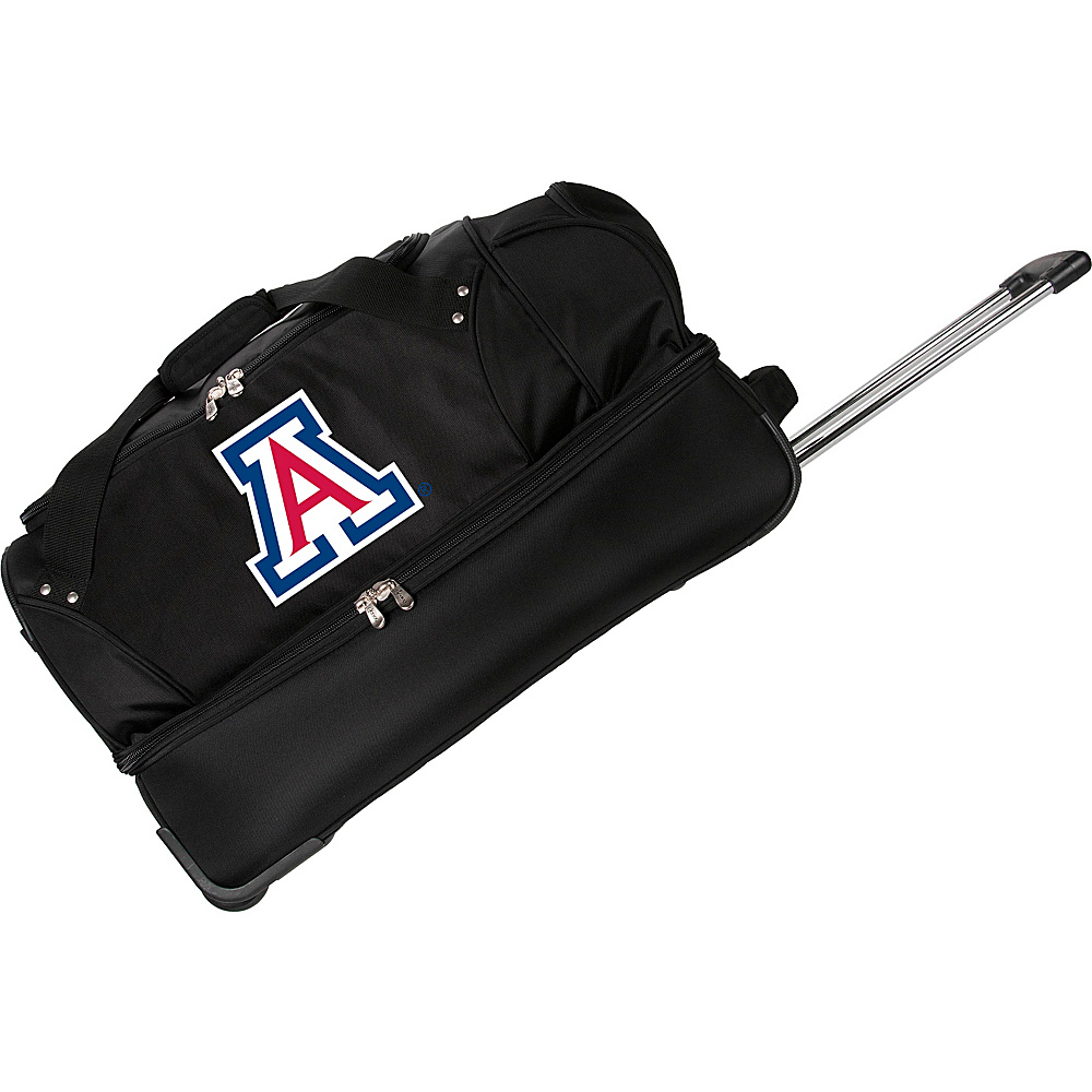 Denco Sports Luggage NCAA University of Arizona Wildcats 27 Drop Bottom Wheeled Duffel Bag Black - Denco Sports Luggage Travel Duffels - Luggage, Travel Duffels