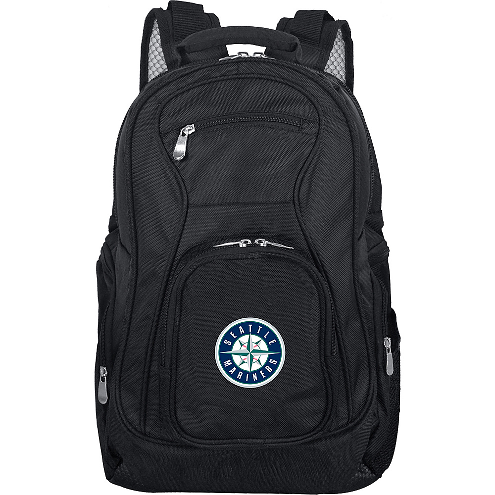 "Denco Sports Luggage MLB Seattle Mariners 19"" Laptop Backpack Black - Denco Sports Luggage Laptop Backpacks"