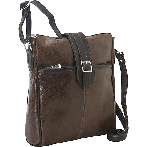 Piel Vintage Leather Slim Tablet Shoulder Bag Vintage Brown - Piel Men's Bags