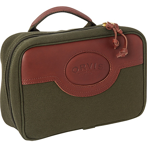 Orvis Hanging Travel Kit Green/Brown. - Orvis Toiletry Kits
