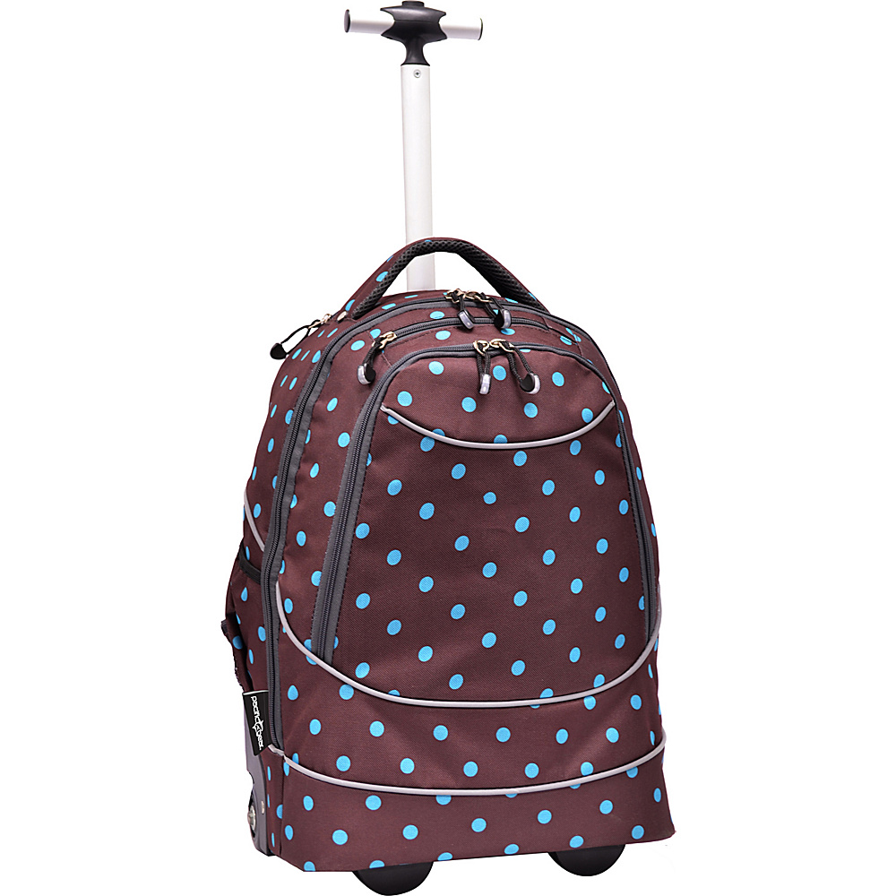 Traveler's Choice Pacific Gear Horizon Rolling Laptop Backpack Turquoise/Brown - Traveler's Choice Wheeled Backpacks