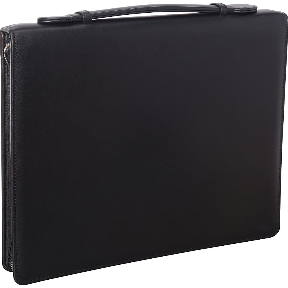 Royce Leather James Zippered Writing Padfolio Black - Royce Leather Business Accessories - Work Bags & Briefcases, Business Accessories