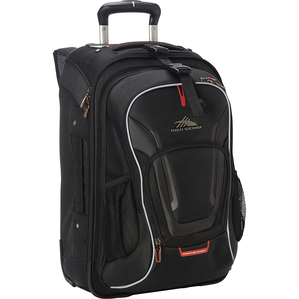 High Sierra AT7 Carry-on Wheeled Backpack with removable daypack Black - High Sierra Rolling Backpacks
