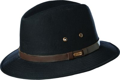Stetson Gable Water Repellent Safari XXL - Black - Stetson Hats/Gloves/Scarves
