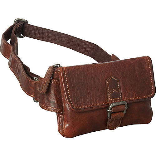 Jack Georges Spikes & Sparrow Collection Waist Bag Brown - Jack Georges Waist Packs & Fanny Packs