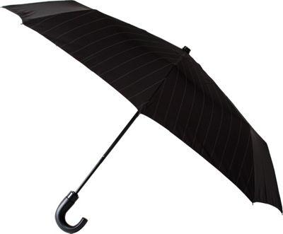 Leighton Umbrellas Kensington black/grey pinstripes - Leighton Umbrellas Umbrellas and Rain Gear