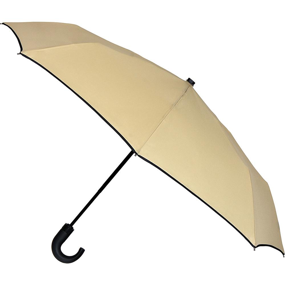 Leighton Umbrellas Kensington khaki w black piping Leighton Umbrellas Umbrellas and Rain Gear