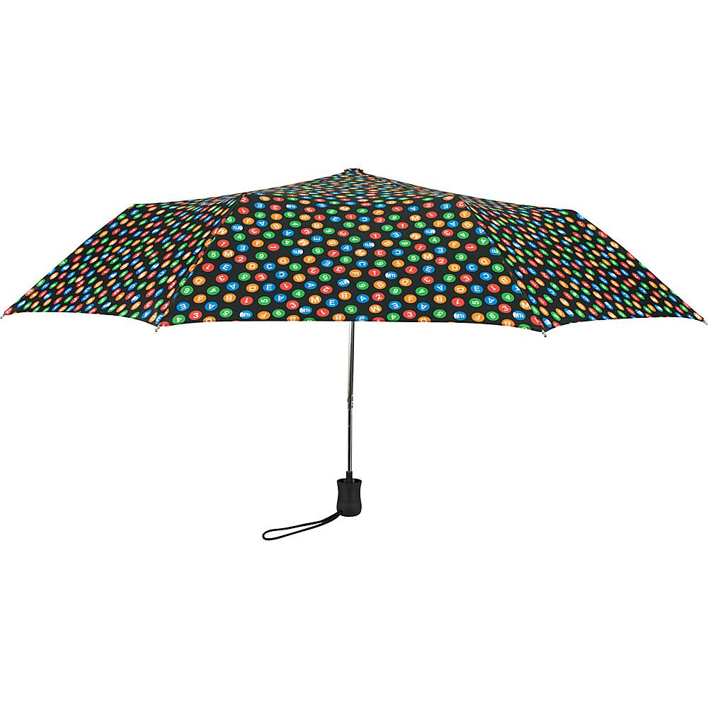 Leighton Umbrellas MTA NYC Indicator black multi Leighton Umbrellas Umbrellas and Rain Gear