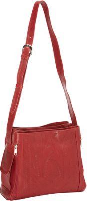 Ropin West Concealed Weapon Handbag Red - Ropin West Leather Handbags