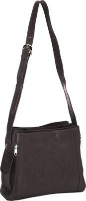 Ropin West Concealed Weapon Handbag Black - Ropin West Leather Handbags