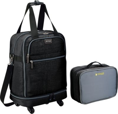 biaggi ZipSak 22 inch MicroFold Carry On Duffle Black - biaggi Travel Duffels