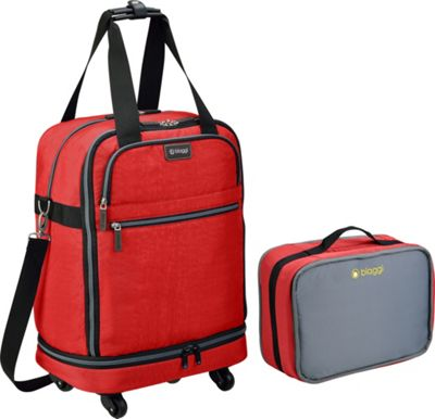biaggi ZipSak 22 inch MicroFold Carry On Duffle Red - biaggi Travel Duffels