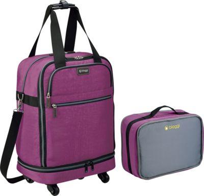 biaggi ZipSak 22 inch MicroFold Carry On Duffle Purple - biaggi Travel Duffels