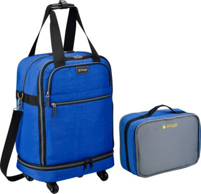 biaggi ZipSak 22 inch MicroFold Carry On Duffle Cobalt Blue - biaggi Travel Duffels