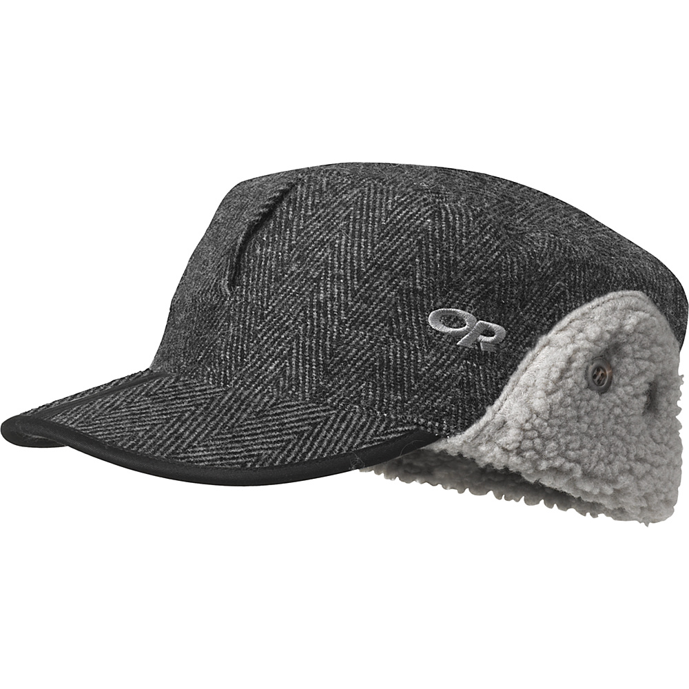 Outdoor Research Yukon Cap XL - Charcoal Herringbone - Outdoor Research Hats/Gloves/Scarves - Fashion Accessories, Hats/Gloves/Scarves