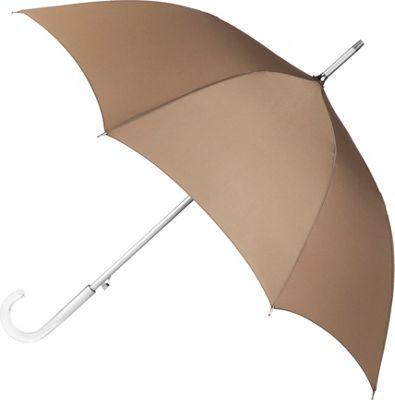 Totes totes Auto Open Stick w/ Acrylic Crystal Handle Brittish Tan - Totes Umbrellas and Rain Gear