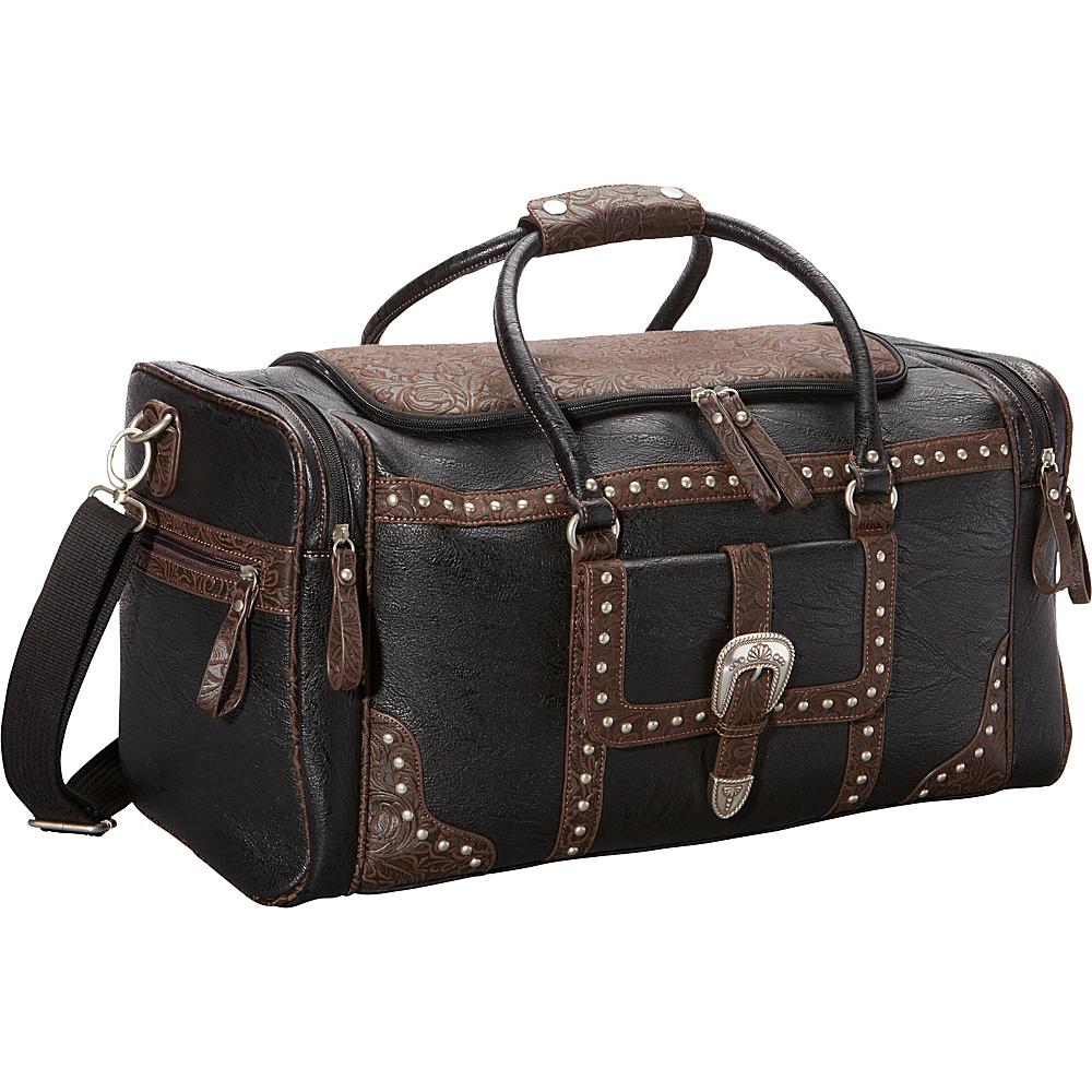 Bandana Lake Tahoe Sports Bag Black Embossed Brown Bandana Travel Duffels