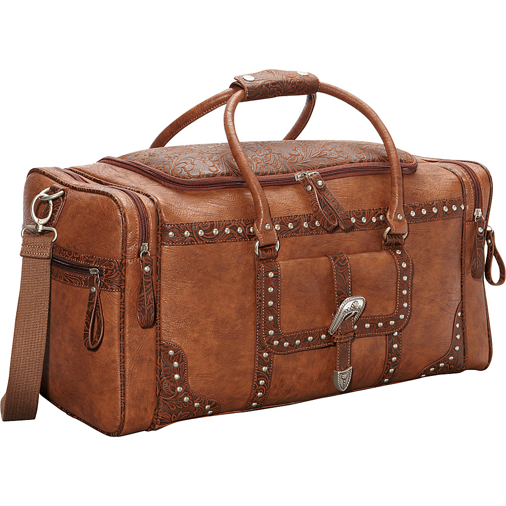 Bandana Lake Tahoe Sports Bag Chestnut Embossed Brown Bandana Travel Duffels