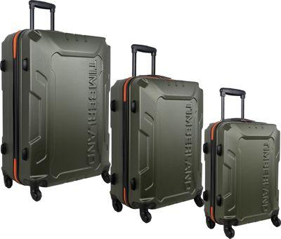 Timberland Boscawen 3-Piece Luggage Set Olive - Timberland Luggage Sets