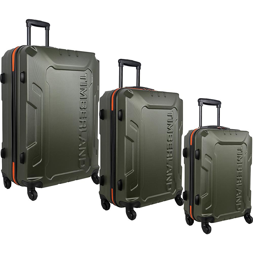 Timberland Boscawen 3 Piece Luggage Set Olive Timberland Luggage Sets
