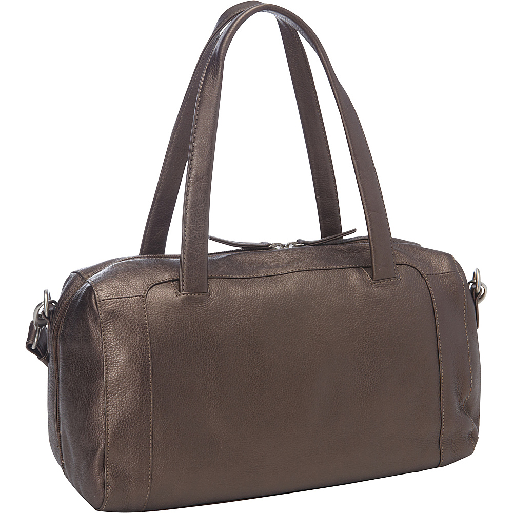 Derek Alexander EW Full Top Zip Duffle Bronze - Derek Alexander Leather Handbags - Handbags, Leather Handbags