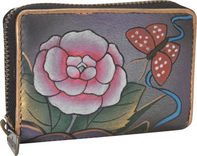 Anuschka Credit and Business Card Holder Antique Rose Pewter - Anuschka Women's Wallets