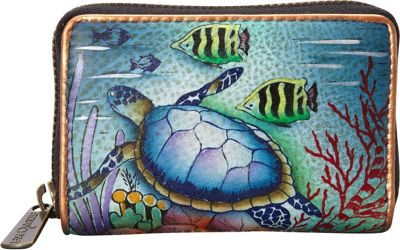 Anuschka Credit and Business Card Holder Ocean Treasures - Anuschka Women's Wallets