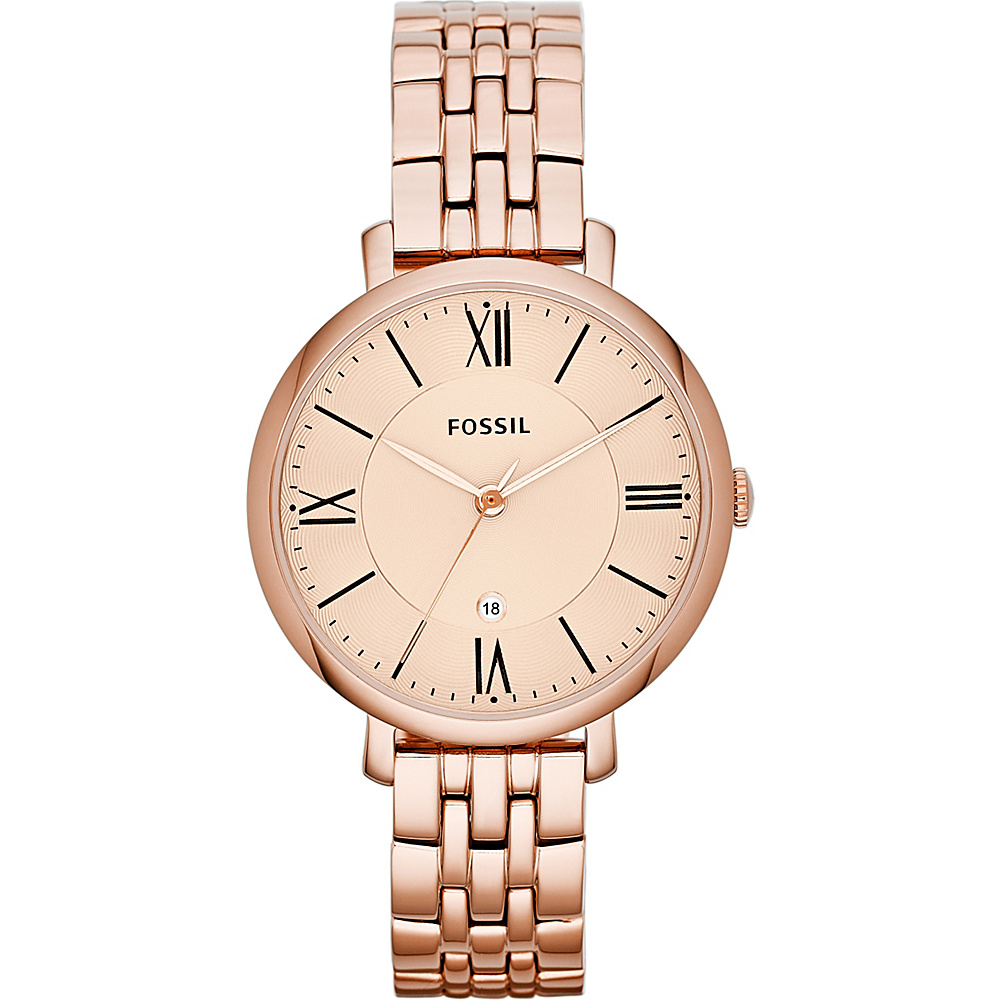 Fossil Jacqueline Rose Gold/Turquois - Fossil Watches - Fashion Accessories, Watches
