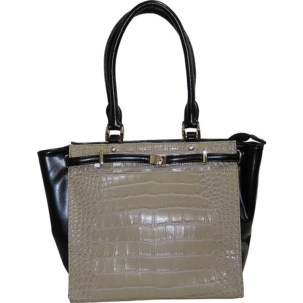 Buxton Daniele Tote Taupe - Buxton Manmade Handbags - Handbags, Manmade Handbags