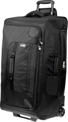 Genius Pack 30 inch Extensive Wheeled Upright BLACK - Genius Pack Softside Checked