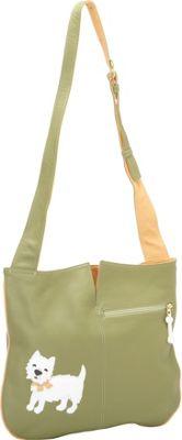 J. P. Ourse & Cie. Westie Park Kiwi/Butter - J. P. Ourse & Cie. Leather Handbags