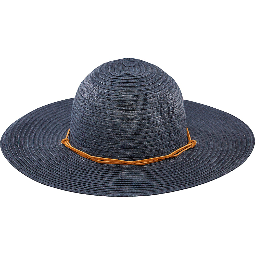 San Diego Hat Large Brim Chin Cord Paper Braid Floppy Indigo San Diego Hat Hats Gloves Scarves