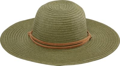 San Diego Hat Large Brim Chin Cord Paper Braid Floppy One Size - Sage - San Diego Hat Hats/Gloves/Scarves