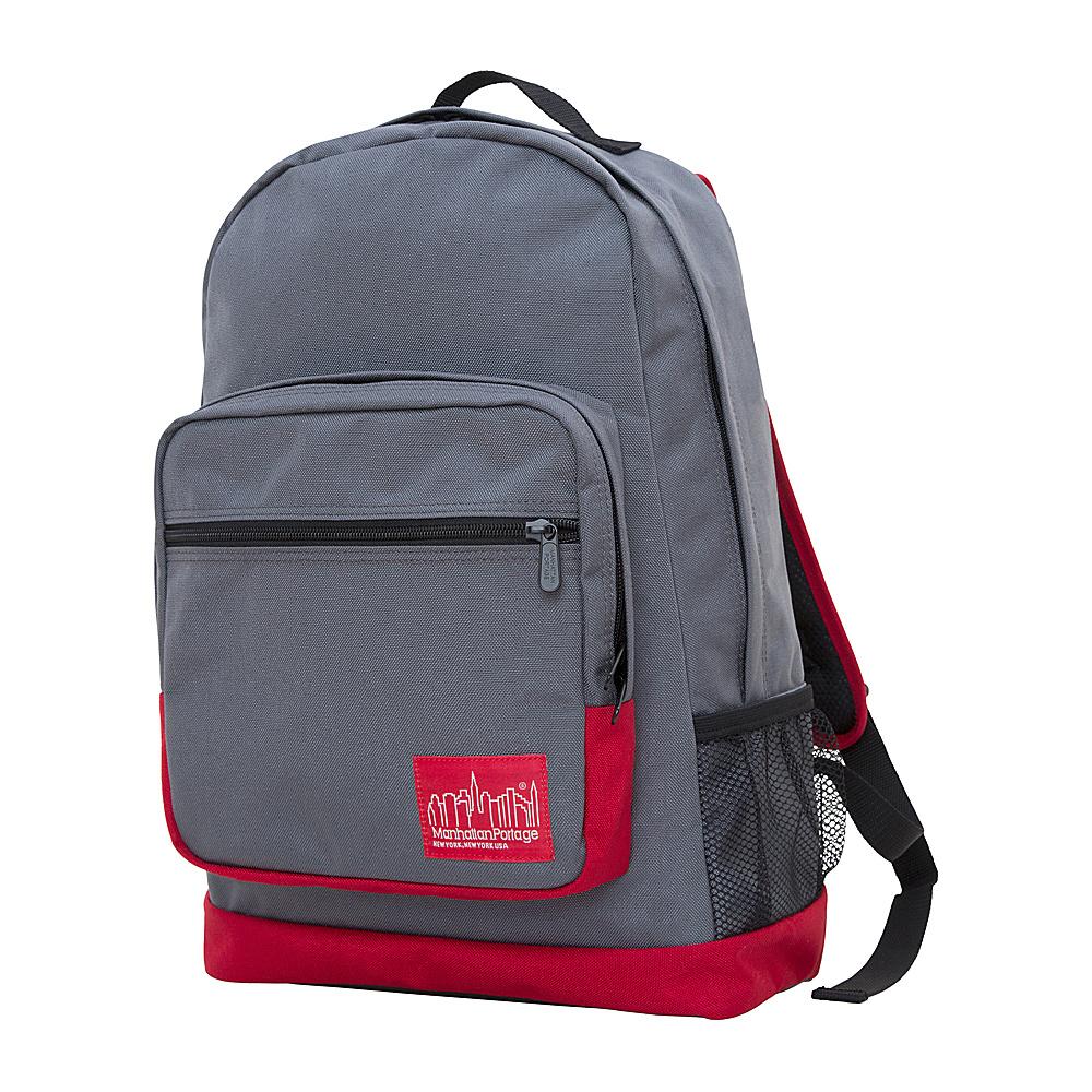 Manhattan Portage Morningside Backpack Grey/Red - Manhattan Portage Business & Laptop Backpacks - Backpacks, Business & Laptop Backpacks