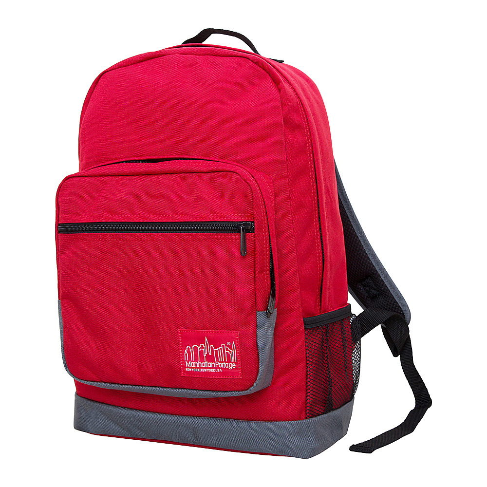 Manhattan Portage Morningside Backpack Red Grey Manhattan Portage Business Laptop Backpacks